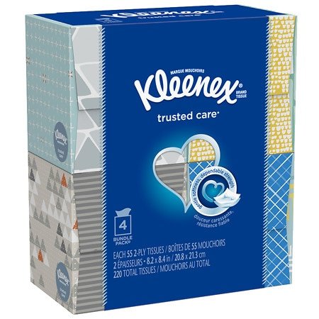 Kleenex Facial Tissue Upright 4 Pk