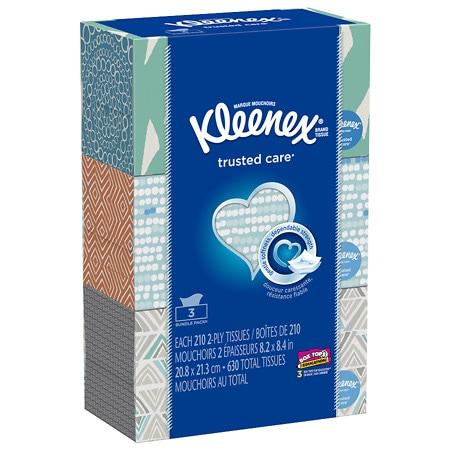 Kleenex Facial Tissue White Bundle 3 Pk