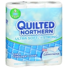 Quilted Northern Soft & Strong Bathroom Tissue 9 Rolls