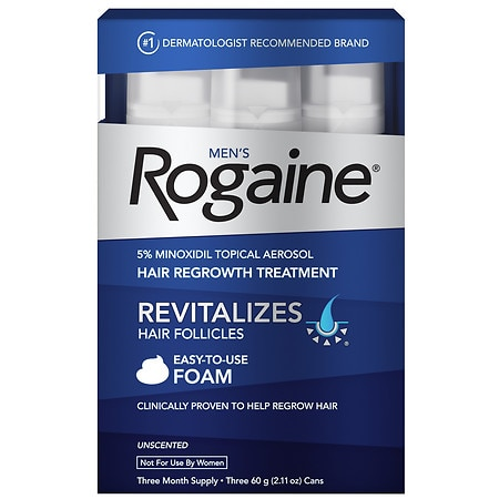 Men's Rogaine Men's Hair Regrowth Treatment Foam 3 Month Supply