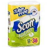 Scott Naturals Tube-Free Bathroom Tissue 12 Rolls Unscented 4.2 inch x 4.0 inch