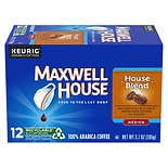 Maxwell House International Cafe Cafe Collection Ground Coffee Single Serve Cups 12 Pack House Blend,Single Cup
