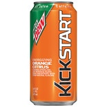 Mountain Dew Kickstart Sparkling Juice Beverage 16 oz Can Orange Citrus