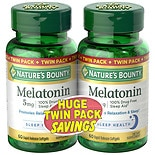 Nature's Bounty Melatonin 5 mg Dietary Supplement Softgels Twin Pack