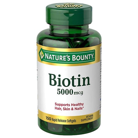 Nature's Bounty Biotin 5000mcg Dietary Supplement, Softgels Value Size