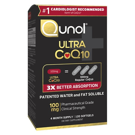 Qunol Ultra CoQ10 100 mg Dietary Supplement Softgels