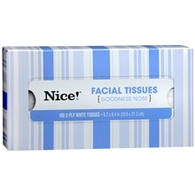 Nice! Facial Tissues White