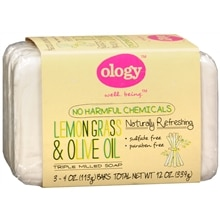 Ology Triple Milled Soap, Bars 3 Pack Lemon Grass