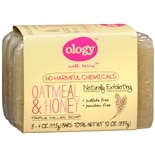 Ology Triple Milled Soap Bars, 3 Pack Oatmeal & Honey