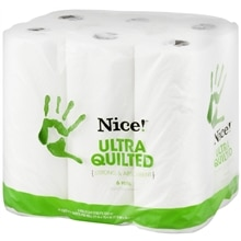 Nice! Large Paper Towels 6 Rolls 11 inch x 10.4 inch