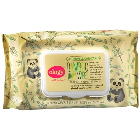 Ology Bamboo Baby Wipes 8 inch x 6 inch