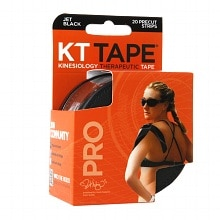 KT Tape Kinesiology Therapeutic Tape Pro Precut Strips, Jet Black