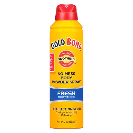 Gold Bond No Mess Powder Spray Fresh Scent with Aloe