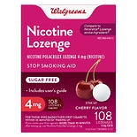 Walgreens Nicotine Lozenges 4 mg Cherry