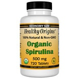 Healthy Origins Organic Spirulina 500mg, Tablets