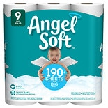 Angel Soft Bathroom Tissue Unscented 9 Rolls
