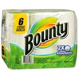 Bounty Paper Towels 6 Rolls White