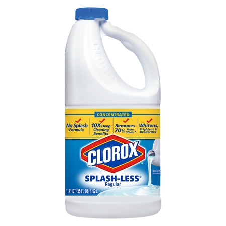 Clorox Concentrated Splash-Less Regular Liquid Bleach Splashless