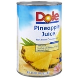 Dole 100% Pineapple Juice 46 oz Can Pineapple