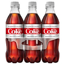 Diet Coke Soda  6 Pack 16.9 oz Bottles
