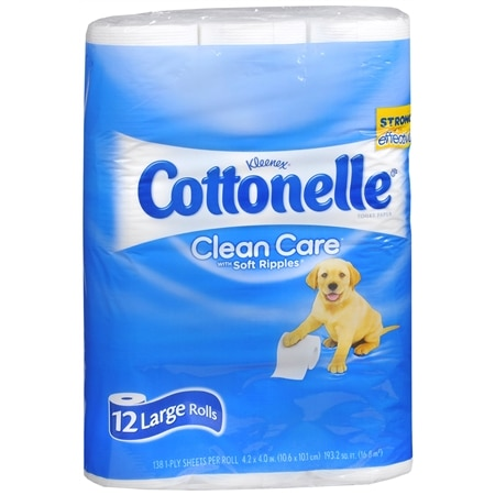 Cottonelle Bathroom Tissue, Large Rolls Clean Care
