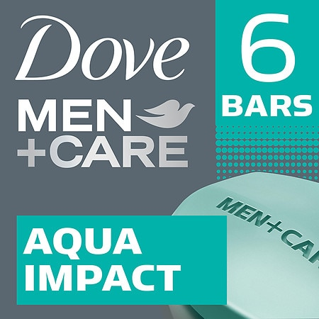 Dove Men+Care Body & Face Bar Aqua Impact,4 oz