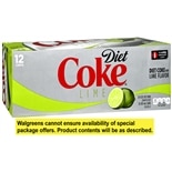 Diet Coke Soda 12 Pack 12 oz Cans Lime