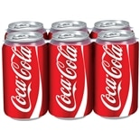 Coke Soda 6 Pack 12 oz Cans Cola