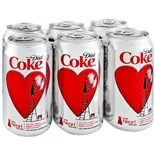 Diet Coke Soda 6 Pack 12 oz Cans Cola