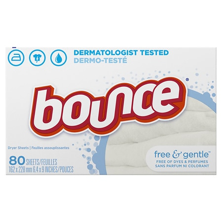Bounce Fabric Softener Dryer Sheets Free & Sensitive