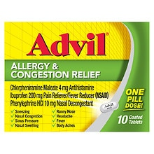Advil Allergy & Congestion Relief Coated Tablets