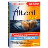 Natural Sleep Aid Dietary Supplement Liquid Gelcaps