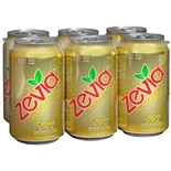 Zevia All Natural Soda 6 Pack 12 oz Cans Cream Soda,6 pack