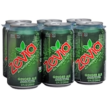 Zevia All Natural Soda 12 oz Cans 6 Pack Ginger Ale,6 pack