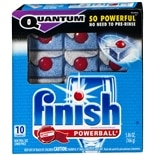 Finish Quantum Powerball Automatic Dishwasher Capsules 10 Pack