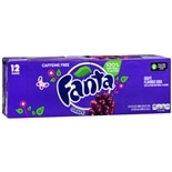 Fanta Soda 12 Pack 12 oz Cans Grape