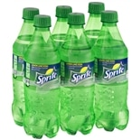 Sprite Soda 6 Pack 16 oz Bottles Lemon-Lime