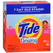 Tide Ultra Laundry Detergent plus a Touch of Downy Powder April Fresh