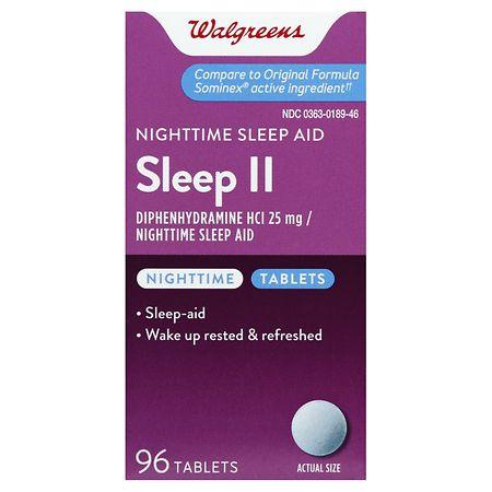 Walgreens Sleep II Nighttime Sleep Aid Tablets - Walgreens