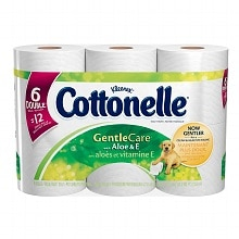 Cottonelle Gentle Care With Aloe/E, Double Roll