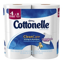 Cottonelle Clean Care Toilet Paper, Double Roll