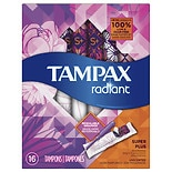 Tampax Radiant Plastic, Tampons, Unscented Super Plus