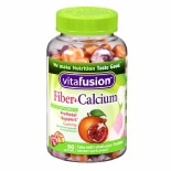 Vitafusion Fiber+Calcium Prenatal Support, Gummy Vitamins Pomegranate & Orange