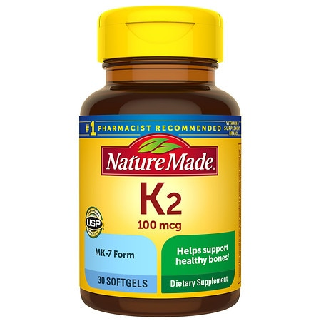 Nature Made Vitamin K2 100 mcg, Softgels