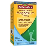Nature Made Maximum Strength Magnesium 500mg, Softgels
