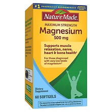 Nature Made Maximumn Strength Magnesium 500mg, Softgels