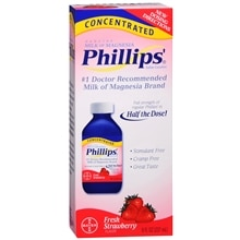 Phillips Genuine Milk of Magnesia Saline Laxative, Concentrated Strawberry