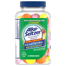 Alka-Seltzer Fruit Chews Calcium Carbonate / Antacid Chewable Tablets Orange