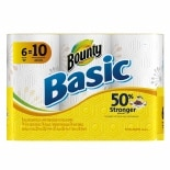 Bounty Basic Paper Towels Mega Roll with Prints