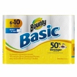 Bounty Basic Paper Towels, Mega Rolls